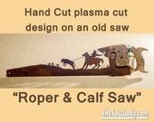 Cowboy Roping a Calf desi...