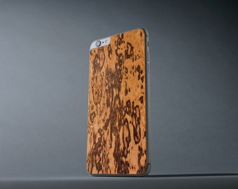 Zebrano iPhone 6 Plus / 6s Plus Real Wood Skin - Made in the USA - FREE Shipping