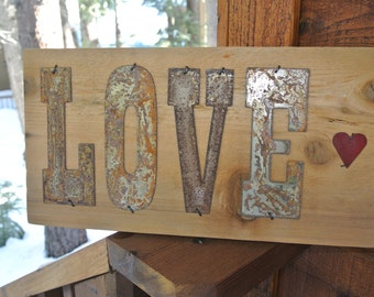 LOVE - Reclaimed Wood Sign