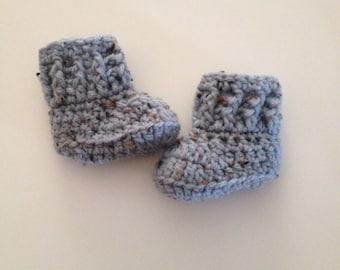 SALE Crochet Baby Boots, Baby Booties,Crib Shoes,Boy Boots, Newborn  Booties, Newborn Shoes ,Made To Order