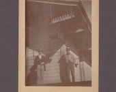Mounted Image of Two Men at the Western Union Telegraph & Freight Office