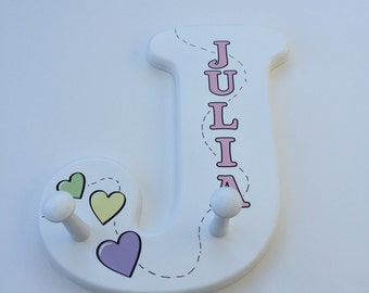 Wooden Letter Alphabet Clothes Hanger Room Decor