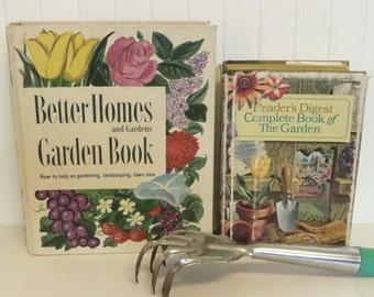 TWO 1960s Garden Books, Hardcover Gardening Instructional Books, Better Homes Garden Book & Complete Book of the Garden