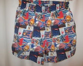 vintage, SPEEDO Olympic graphic logo swim trunks with liner ATLANTA GAMES 1996 celebrate 100 years men size M