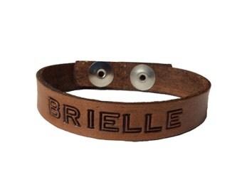 Custom Leather Word Personalized Bracelet