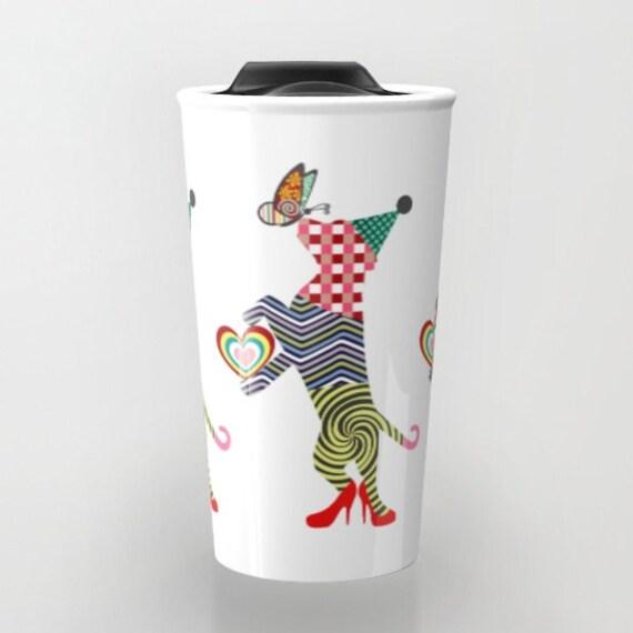 Dog Travel Coffee Mug, Cute Dogt Travel Mug,  Pet Mug, Dog Lover Mug, Tea Mug, Dog Lover Gift, Animal Mug, Travel Gift
