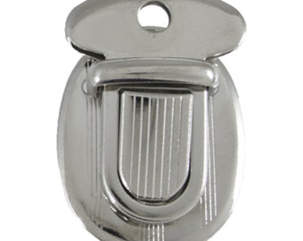 """1"""" Oval Nickel Plated Tuck Lock Clasp #85-1150700"""