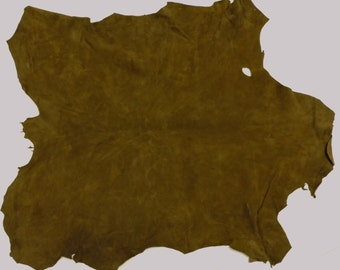 SALE* Olive Green Suede Lambskin - 10.00 Dollars for One Full Skin! #911-10
