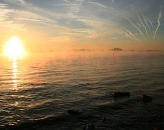 Sunrise Over the Water - Deep Matte Print