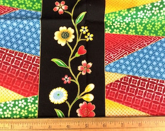 Flowers and Patterns - Cotton Fabric Destash Sale Fabric 42 x 18 inches