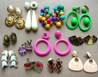 Vintage Earrings - Vintage Earring Destash - Pairs of Earrings - Vintage Earring Lot