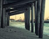Jersey Shore Photography, Seaside Heights Canvas Print, Fun Town Pier, Casino Beach Pier, Amusement Park and Ocean, New Jersey, Jet Star
