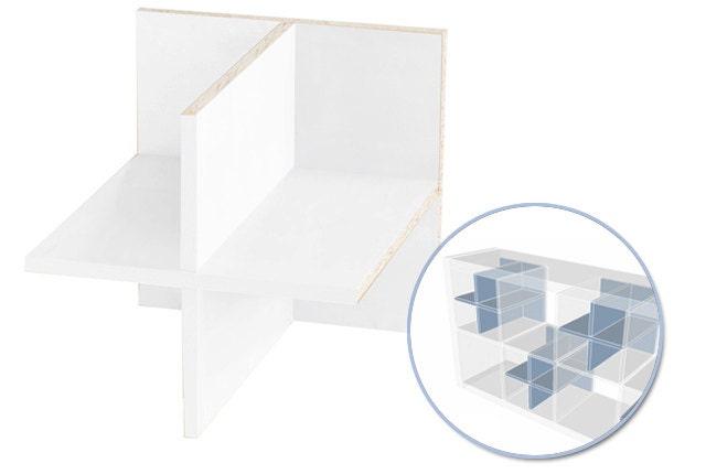 regalteiler 4er teilung f r ikea expedit regal weiss. Black Bedroom Furniture Sets. Home Design Ideas