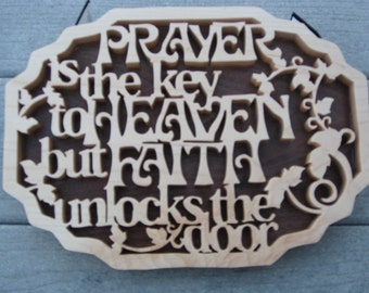 Prayer Sign Made From Hard Maple And Walnut