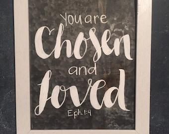 Chosen & Loved tin sign - adoption fundraiser