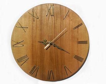 13,5''  wooden wall clock