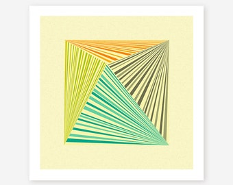 Giclée Fine Art Print, Colorful, Modern, Abstract Wall Art for the home Decor, TRANSMISSION #4