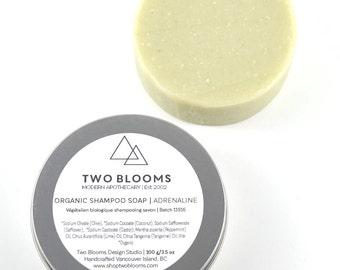 Organic Shampoo Soap, Adrenaline Mint/Lime Soap, Natural Soap Victoria BC Vancouver Island Canada
