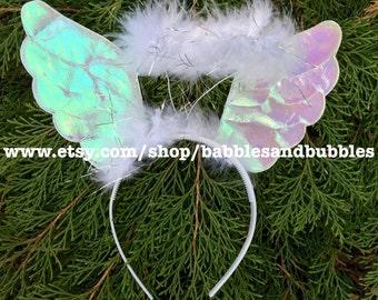 Comfortable Angel Halo Headband Christmas Costume With Wings - Angel Halo Halloween Costume - NEXT DAY SHIPPING