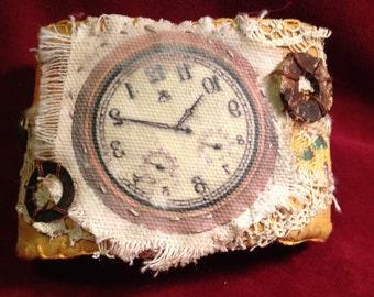 Fabric Wrist Cuff - Clock