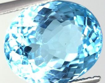 Natural Swiss Blue Topaz 10.52 Carat Gemstone Africa