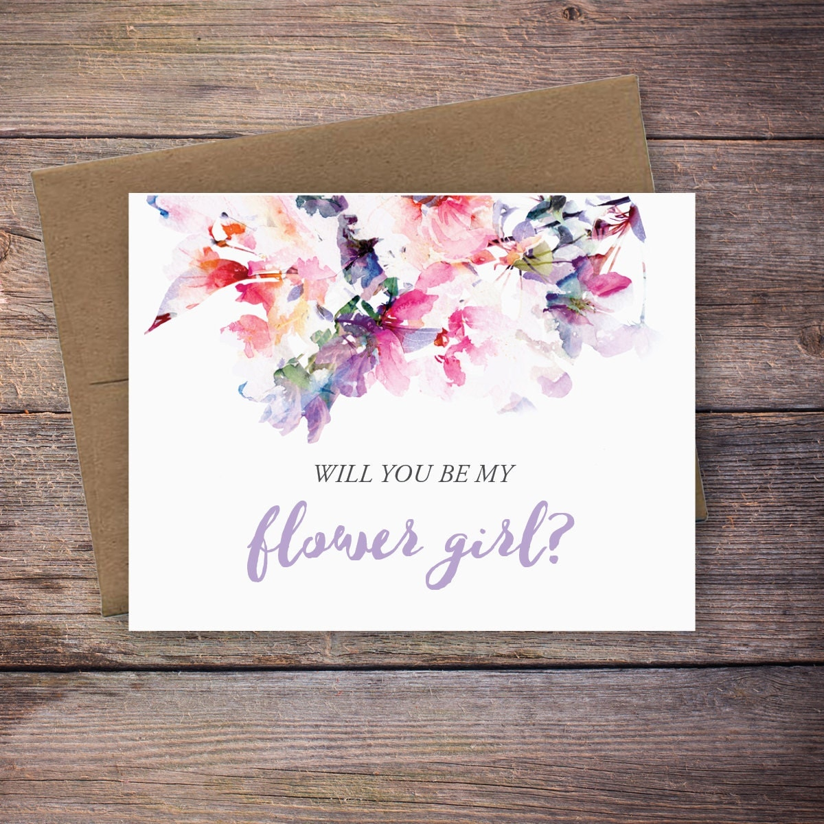 printable will you be my flower girl card instant download