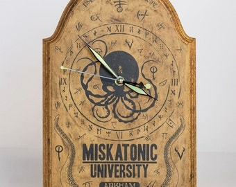 "Miskatonic University ""Tombstone"" Wall Clock"