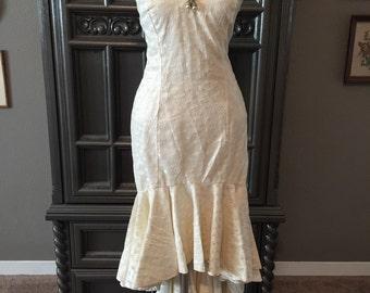 60s Bombshell Bride Wiggle Fit Mermaid Fishtail Dress
