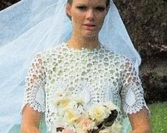 Crochet Wedding Dress Top