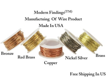1 Oz Spools Choose Wire / Copper, Brass, Nickel Silver, Bronze, Red Brass, ( Dead Soft ) Solid Metals