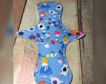 10in ultra slim fit -medium cotton cloth sanitary pad by Dimple's Secret Garden  alice in wonderland