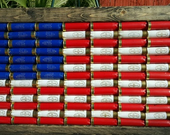 Shotgun Shell American Flag