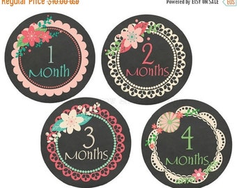 Sale Baby Monthly Stickers Baby Month Stickers Baby Monthly Stickers Baby Sticker Girl Baby Shower Gift Baby Milestone Stickers Chalkboard