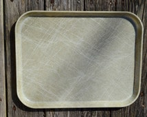 Industrial Decor.  White Cafeteria Fiberglass Tray.  Camtray. School Hospital Food Service Serving Tray.   -  VF24