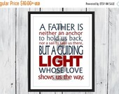 ONSALE Father Quote - Father's Day Gift - Gift for Dad - Nautical Decor