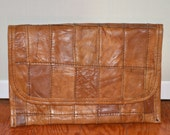 Leather Wallet, Camel Colored Pouch, Dark Tan Vintage Pouch, Handmade Vintage Wallet, Women's Wallet, Men's Pouch