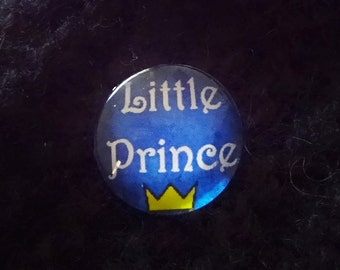 20mm Little Prince Brooch Pin Adult Baby ABDL DDLG Baby Boy Mommy Age Play Sub Dom Crown