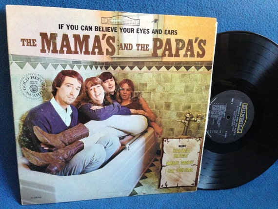 "Vintage, Mamas And The Papas ""If You Can believe Your Eyes And Ears"", Vinyl LP, Record Album, California Dreamin, Monday Monday"