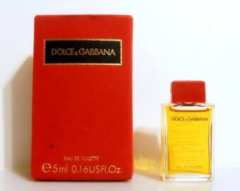 Vintage 1990s Dolce and Gabbana 0.16 oz Eau de Toilette Mini Miniature PERFUME