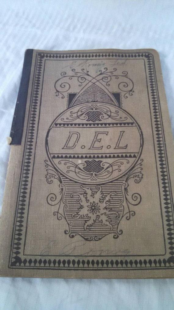 Antique ledger book , general store ledger , financial ledger