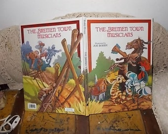 The Bremen Town Musicians By Joe Boddy 1993, Vintage Children's Book, Vintage Book, Reading Time, Reading, :)s