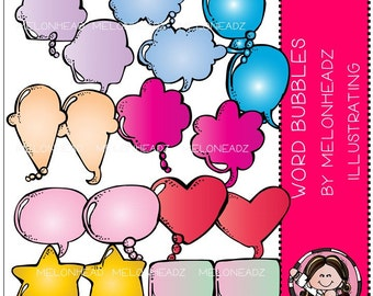 Word Bubbles clip art