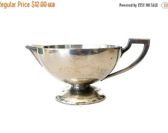 ON SALE Art Deco Silver Plate Creamer, Vintage Silver Empire Silver Co