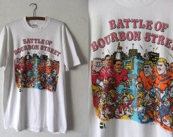49ers Super Bowl Caricature Shirt - NFL Football San Francisco Niners Throwback 90s Vintage Tee - Mens Large