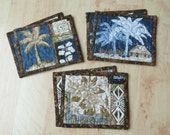 Quilted Coasters Palm Tree Island Brown 360