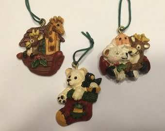 3 piece Christmas ornament mix, 30-45 mm (BR52)