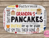 Personalized Melamine Pancake Platter, Monogrammed Platter, Breakfast, Tailgaiting Tray, Pancakes, Breakfast Tray, Father's Day Gift