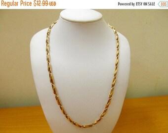 ON SALE VENDOME Gold Tone Link Chain Necklace Item K # 2510