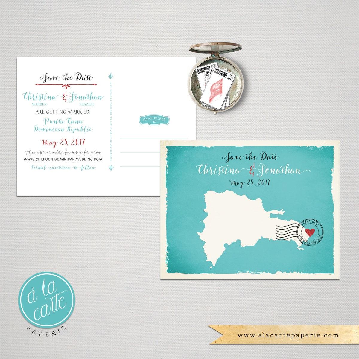 destination wedding invitation dominican republic punta cana With destination wedding invitations dominican republic