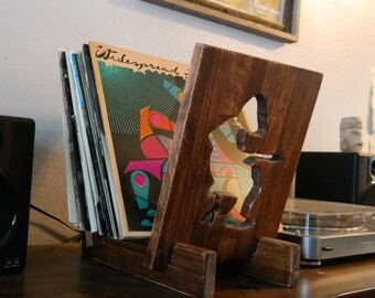 Michael Houser Record Stand. Vinyl Display and Storage. Widespread Panic.
